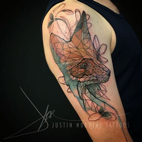 tattoo geometric fox 304 best images about watercolor tattoos on pinterest