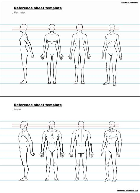 character design template ref sheet template a by chakhabit on deviantart