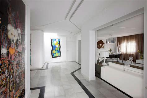 design apartment madrid marble floor art modern apartment in madrid designed by