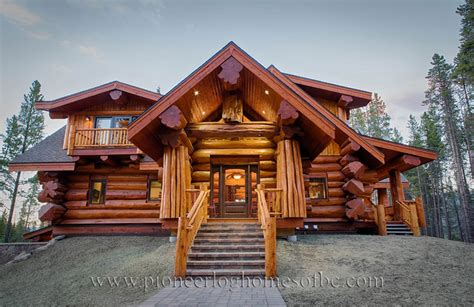 custom log homes picture gallery bc canada