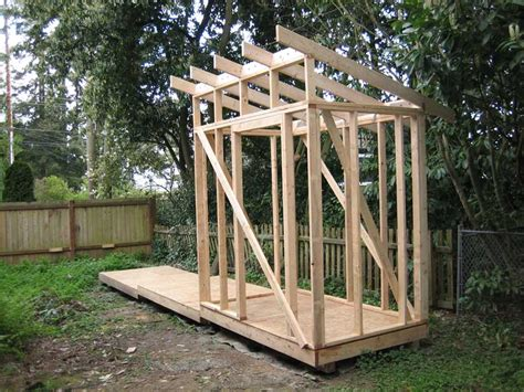 Rafters For Shed Roof by Shed Roof Framing Sheds Plan For Building