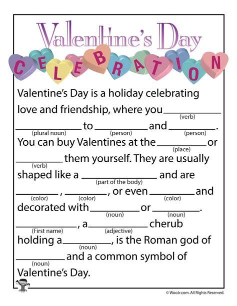 mad libs valentines mad lib valentines day celebration mad lib printable woo jr