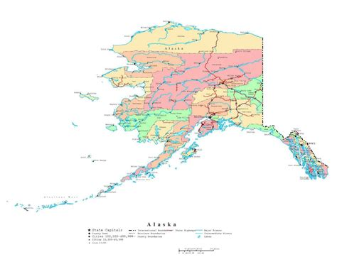 road map alaska usa maps of alaska state collection of detailed maps of