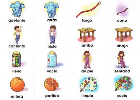 imagenes de ingles adjetivos adjetivos opuestos vocabulario pinterest