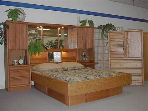 Captains Bed Bookcase Headboard Wood Frame Waterbeds At Snooze City