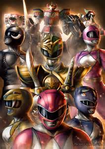 painting power rangers mighty morphin power rangers fanart tribute by