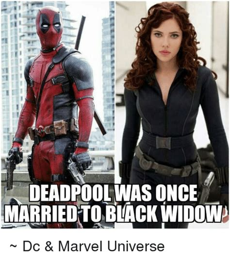 Black Widow Meme - ie deadpool was once married to black widow dc marvel