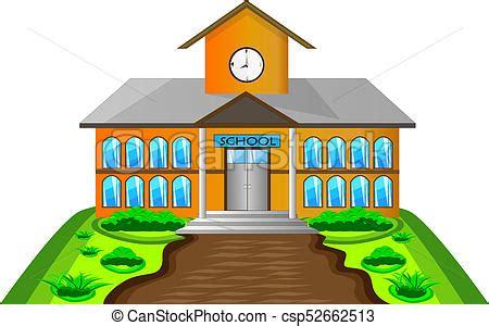 clipart scuola costruzione scuola illustrazione costruzione scuola