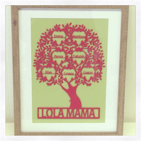 items similar to papercut original family tree framed with