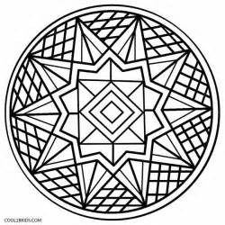 Kaleidoscope Coloring Pages Easy sketch template