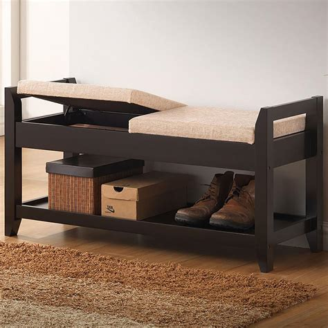 dark wood storage bench baxton studio karin dark brown wood storage bench 28862