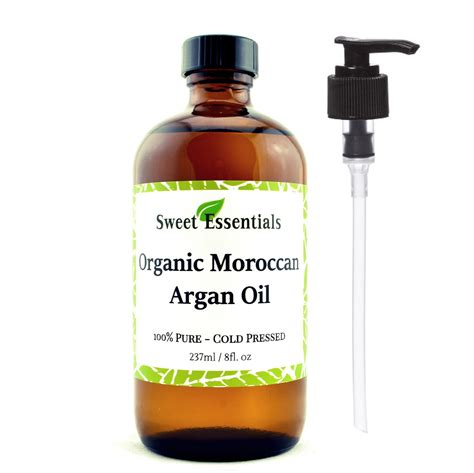 premium organic moroccan argan 8oz glass bottle