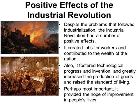 Positive And Negative Effects Of The Industrial Revolution Essay by Ch 25 The Industrial Revolution Ppt