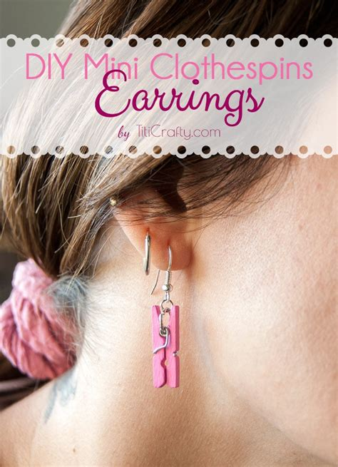 how to make steunk jewelry tutorial diy mini clothespins earrings this silly s kitchen