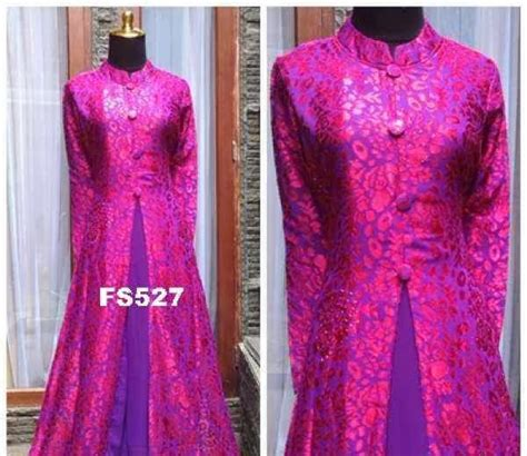 Gamis Pesta Pink Fanta azka fashion baju gaun gamis dress pesta braso anya 3