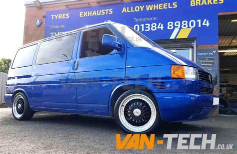 volkswagen van wheels calibre vintage 18 black and polished alloy wheels t4