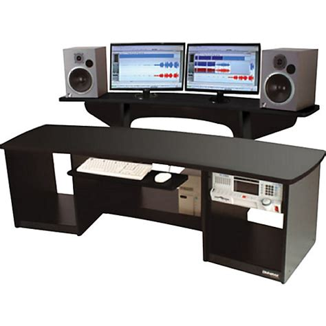 studio desks omnirax 24 studio desk black musician s friend