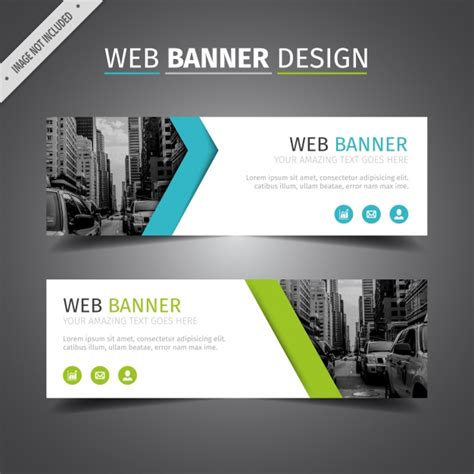 design banner online website blue and green web banner design vector free download
