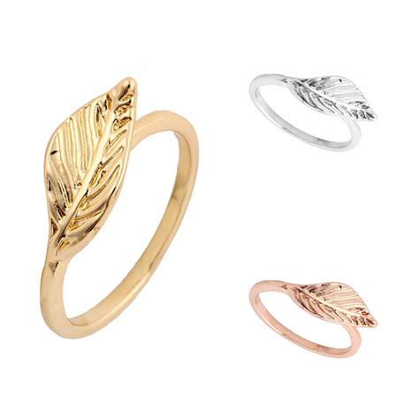 min 1pc gold silver and gold simple finger