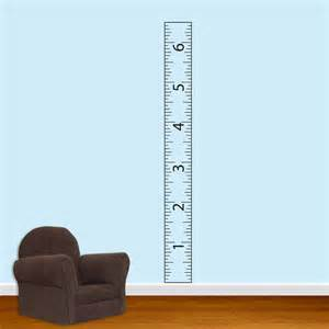 children ruler growth chart vinyl wall decal with border sticker art decals stickers