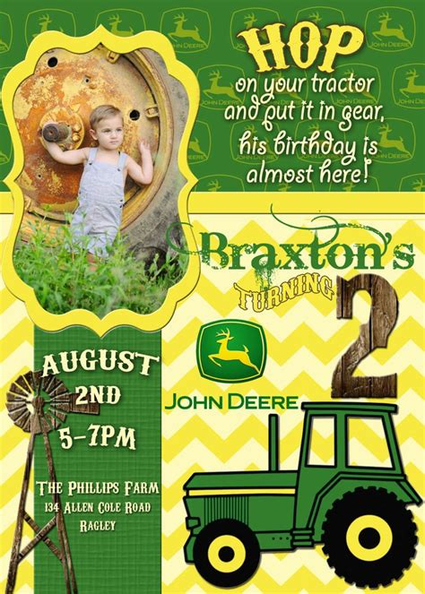 john deere printable birthday invitations pinterest discover and save creative ideas
