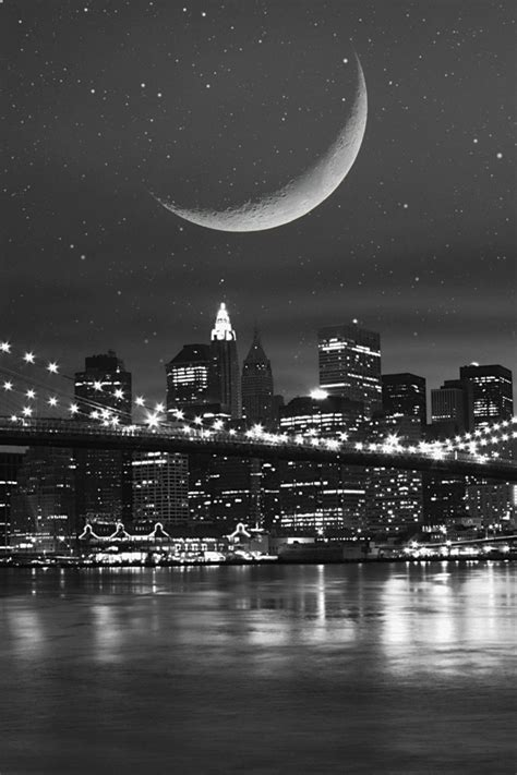 new york iphone wallpaper black and white black and white city and the moon iphone wallpaper free