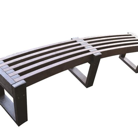 plastic bench seats coombe curved bench environmentally friendly recycled