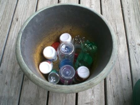 fill planters  plastic bottles thriftyfun