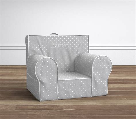 Pottery Barn Anywhere Chairs by Gray Pin Dot Anywhere Chair 174 Pottery Barn
