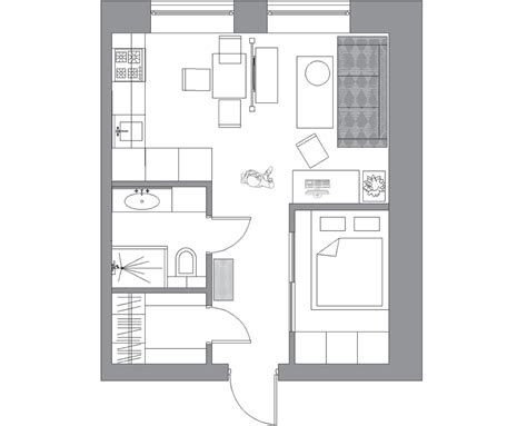 small apartment floor plan 3 small apartments that rock uncommon color schemes with
