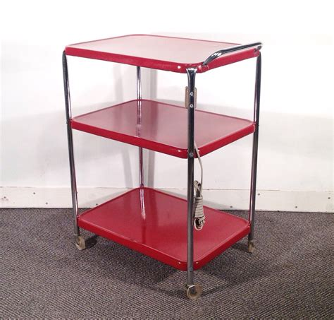 metal kitchen cart vintage rolling kitchen cart