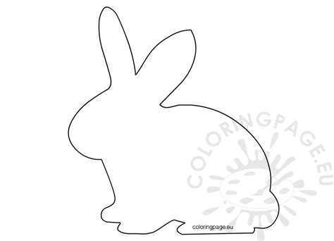 template rabbit easter template easter bunny shape coloring page