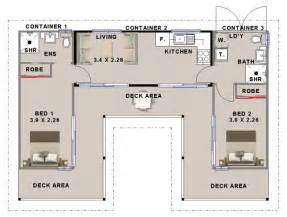 Homes From Shipping Containers Floor Plans by 2 Bedroom Shipping Container Home Design Homestead Look