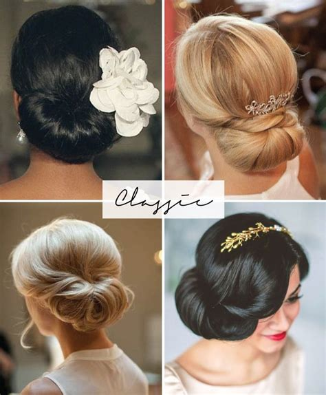 Classic Wedding Hairstyles by Classic Chignon Wedding Hairstyles