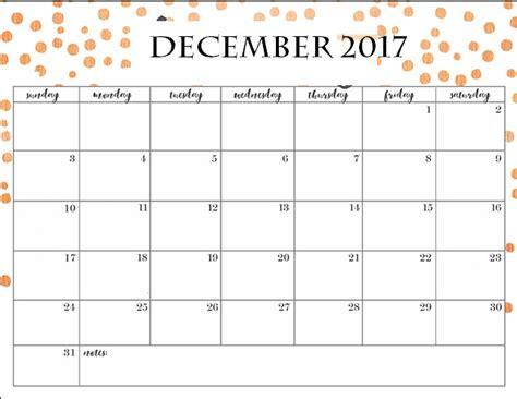 printable december 2017 calendar cute 2017 december blank template calendar 2018