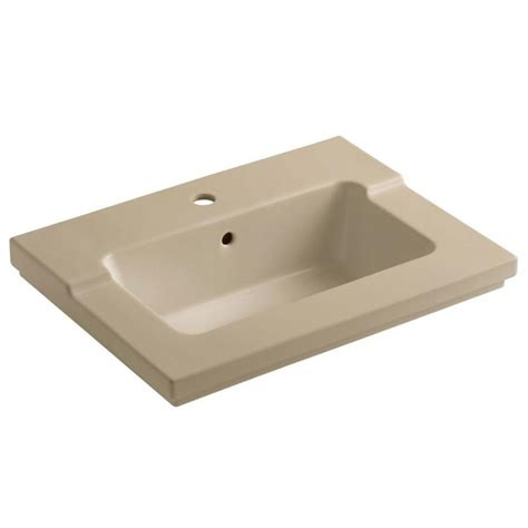 25 X 19 Bathroom Vanity Top by Shop Kohler Tresham Mexican Sand Vitreous China Integral
