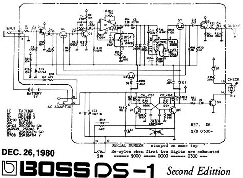 guitar circuit diagram ds 1 pedal schematic schematics