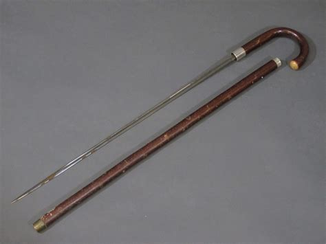 sword stick lot no 397 a sword stick by wilkinson sword with