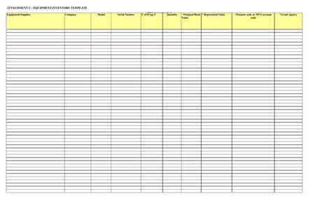 equipment inventory template inventory spreadsheet templates free premium