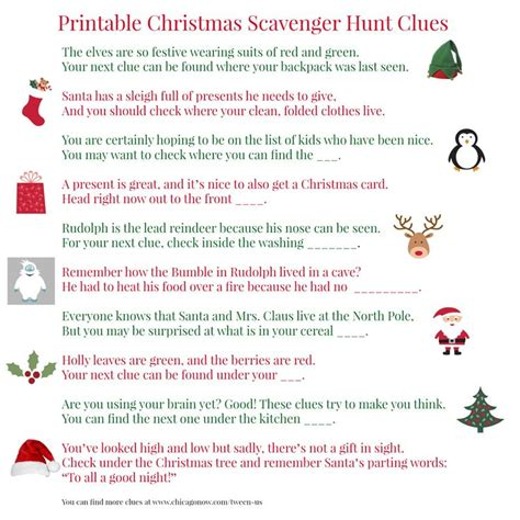 printable elf on the shelf scavenger hunt 25 best ideas about christmas scavenger hunt on pinterest