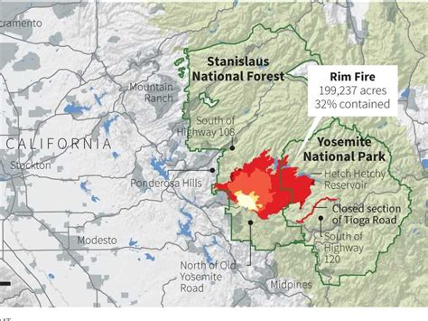 map of california fires california wildfire still moving into yosemite business insider