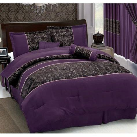 purple and black bedding sets purple comforter lavender bedding and comforter on pinterest