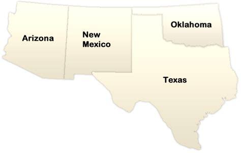 map of the united states southwest region southwest region