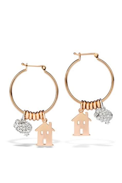 pomellato lettere orecchini in oro rosa dodo the house of
