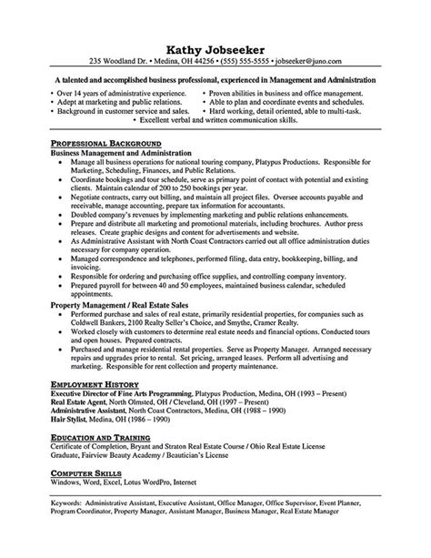 property manager resume sle property manager resume should be rightly written to describe