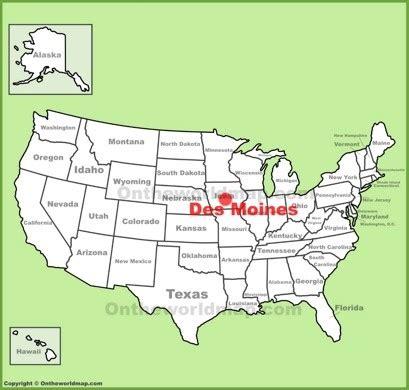 map of des moines des moines location map