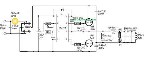 induction heater diagram simple induction heater circuit