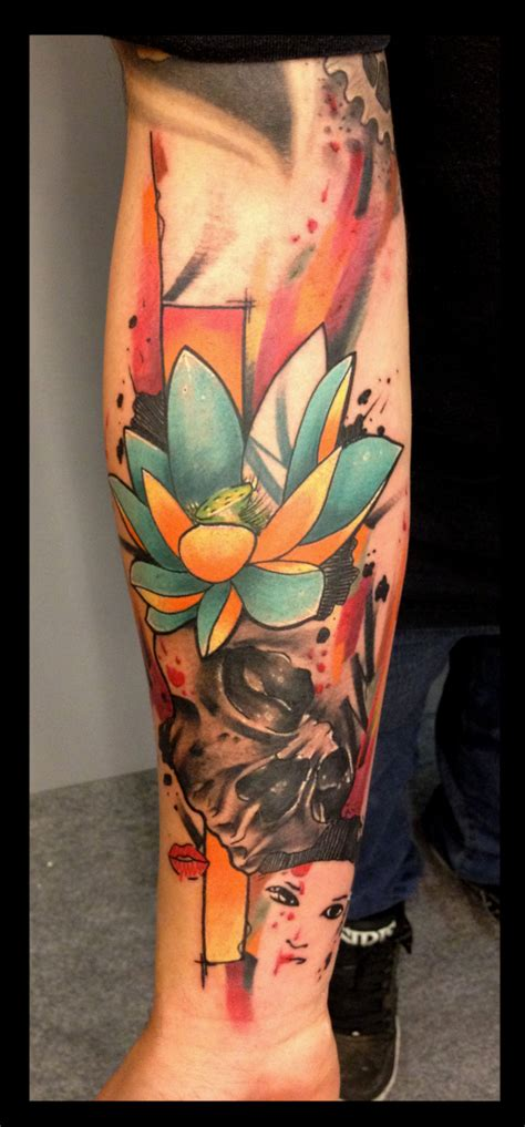 lotus tattoo yellow yellow blue lotus skull tattoo by live two best tattoo