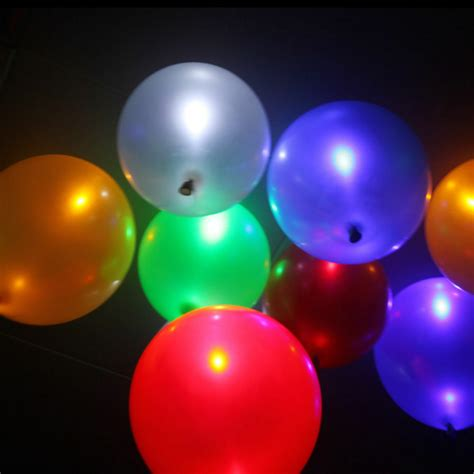 helium color 100 pcs helium air mixed colors led balloons wedding light