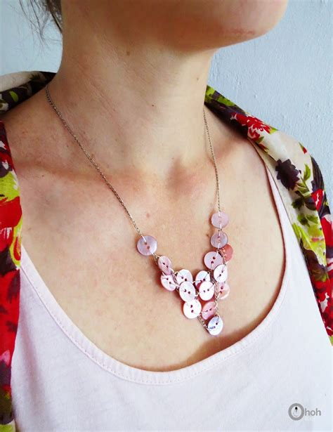 how to make button jewelry how to make a button necklace ohoh